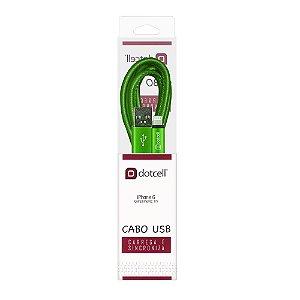 Cabo USB DC-1070 IPH6 (Verde)                              1,0mt