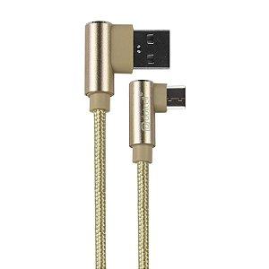 CABO USB TYPE-C DOTCELL DC-1107 DOURADO