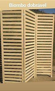 Biombo em madeira - Painel decorativo