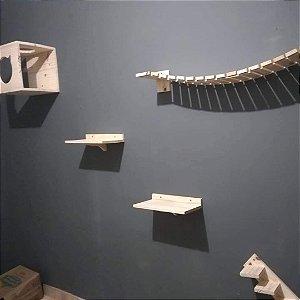 Kit Basico - 5 peças - playground para Gatos - Gatil
