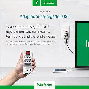 Adaptador de 2 tomadas e 2 USB Intelbras