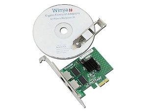 Placa de Rede PCI Express X1 Dual Giga Winyao WY1000T2
