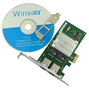 Placa de Rede PCI Express X1 Dual Giga Winyao WY580T