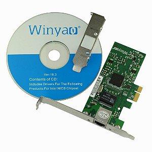Placa de Rede PCI Express X1 Giga Winyao WY573T
