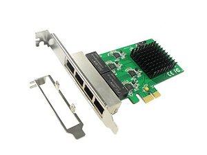 Placa de Rede PCI Express X1 Quad Gigabit Realtek RTL8111E