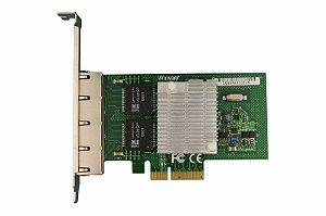 Placa de Rede PCI Express X4 Quad Giga Winyao WYI350-T4