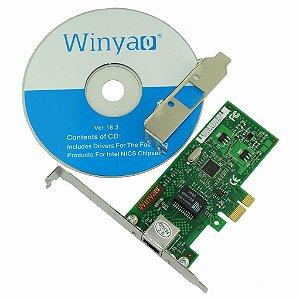 Placa de Rede PCI Express X1 Giga Winyao WY574T