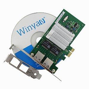 Placa de Rede PCI Express X1 Dual Giga Winyao WYI350T