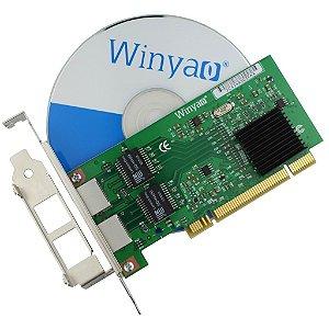 Placa de Rede PCI Dual Giga Winyao WY546T2