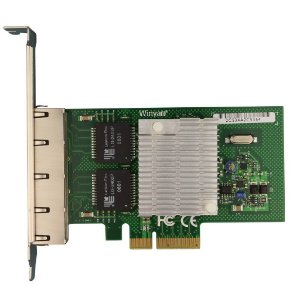 Placa de Rede PCI Express X4 Quad Giga Winyao WY580-T4