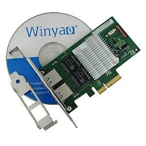 Placa de Rede PCI Express X4 Dual Giga Winyao WYI350-T2