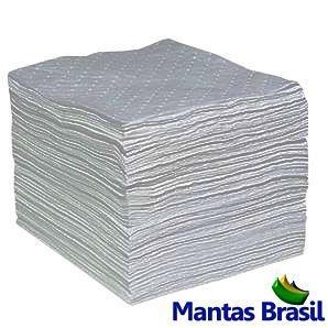 Manta Absorvente Líquidos em Geral - Cinza - 100% Polipropileno 500x400x4mm Caixa com 100pç