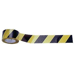 Fita Zebrada 07 cm x 200 Mts Amarelo e Preto
