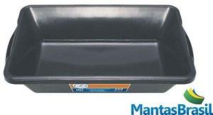 Bandeja Plástica para contenção de óleo Capacidade de 20 litros na cor preta – 14x63x39cm