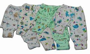 Calça Mijão Bebe Precioso cores variadas com pezinhos reversiveis