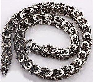 Colar Dragão (prata)