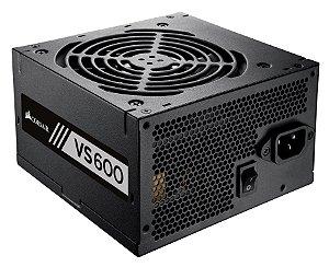 Fonte Corsair VS600 ATX 600 Watts 80 Plus White CP-9020119-LA Bivolt