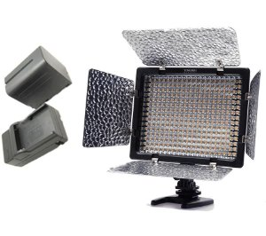 Kit Led Yn300 III(bicolor) + bateria F970 + carregador