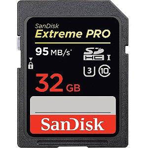 Cartão de Memória 32gb Sandisk SDHC Extreme Pro 95mb/s Classe 10