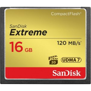 Cartão de Memória 16gb Compact Flash Sandisk CF Extreme 120 Mb/s