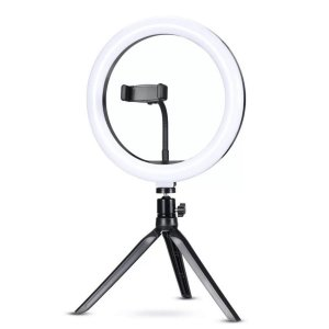 Ring Light de 26 Cms 10´ com mini tripé