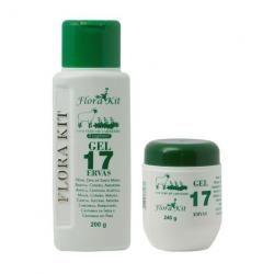 Gel 17 Ervas Flora Kit para Massagens