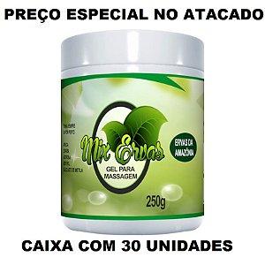 GEL MIX ERVAS ATACADO REVENDA 30 POTES DE 250G