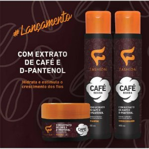 Kit Café Bomba Fashion com 3 produtos +Brinde Bolsa