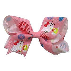 Laço tipo borboleta Grande - Cód. 17.174 - Hello Kitty rosa