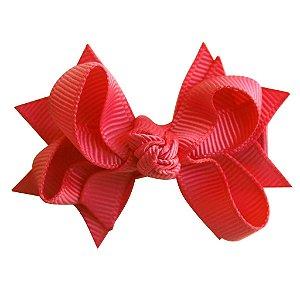 Laço tipo borboleta com base de fita - cód. 14.162 - Coral