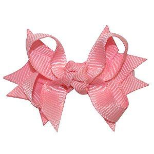 Laço tipo borboleta com base de fita - Cod 14.162 - Rosa bebê