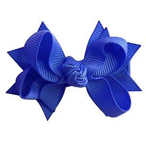 Laço tipo borboleta com base de fita - Cod 14.162 - Azul royal