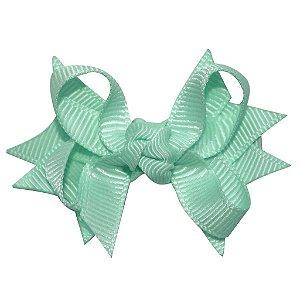 Laço tipo borboleta com base de fita - Cod 14.162 - Verde água