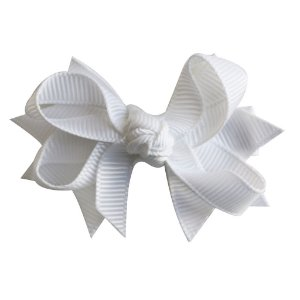 Laço tipo borboleta com base de fita - Cod 14.162 - Branco