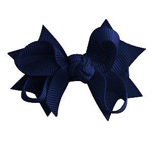 Laço tipo borboleta com base de fita - Cod 14.162 - Azul Marinho