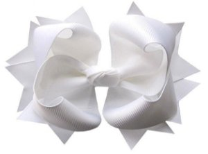 Laço tipo borboleta GG - cód. 17.183 - Branco