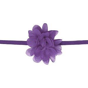 Faixa com mini flor de tecido - Cod 22.223 - Lilas