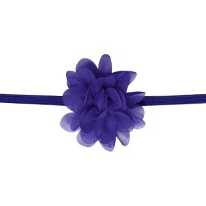 Faixa com mini flor de tecido - Cod 22.223 - Roxo