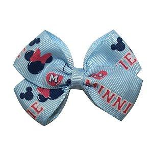 Laço em x pequeno - Cód. 13.161 - Minnie azul claro