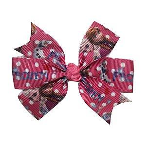 Laço duplo de pontas - modelo  Abby - cód. 13.165 - Frozen rosa pink