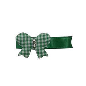Clip com aplique - Cod. 14.053 - Borboleta verde bandeira