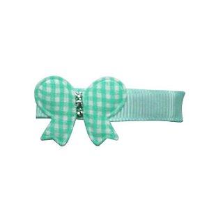 Clip com aplique - Cod 14.053 - Borboleta verde água