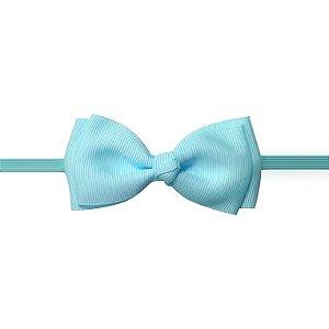 Faixa fina com laço chanel franzido - Cod. 22.256 -  Azul bebê