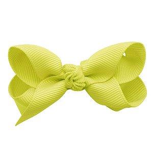 Laço em x modelo borboleta pequeno - cód. 13.197 - Amarelo Claro