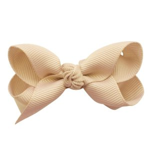 Laço em x modelo borboleta pequeno - cód. 13.197 - Nude