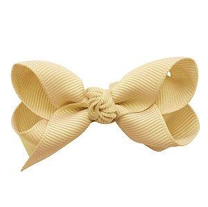 Laço em x modelo borboleta pequeno - cód. 13.197 - Creme