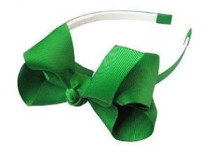 Tiara laços grandes - cód. 22.093 - Verde bandeira