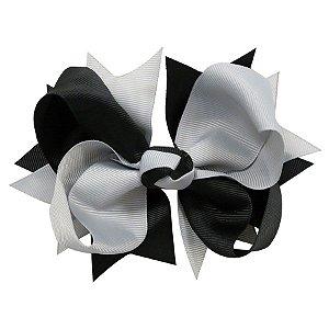 Laço tipo borboleta GG - cód. 17.183 - Cinza com preto