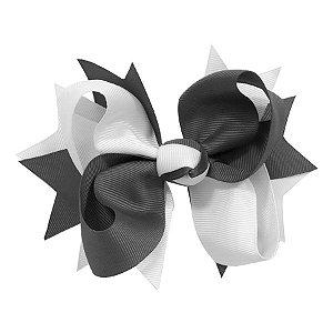 Laço tipo borboleta GG - cód. 17.183 - Branco com marinho