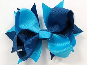 Laço tipo borboleta GG - cód. 17.183 - Azul marinho com turqueza